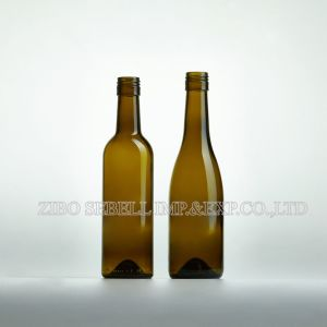 Antique Green 375ml Bordeaux Glass Bottle for Red Wine (NA-039) pictures & photos