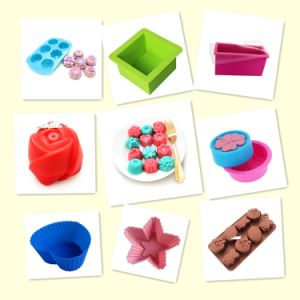 Food Grade Silicone Cupcake Molds with FDA LFGB Certificates Heart Flower and Star Shape