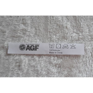 White Ground Black Letters Washing Stain Labels for Garment pictures & photos