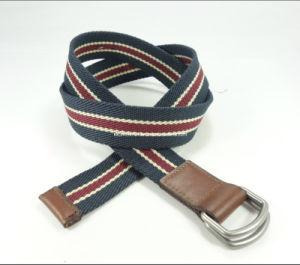 Plain Canvas Men′s Buckle Belt (EUBL0768-35)