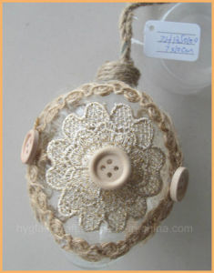 Hanging Eastern Glass Egg Ornament with Flower pictures & photos
