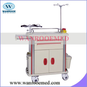 Bet-85002e Sliding Side Shelf Emergency Medical Trolley pictures & photos