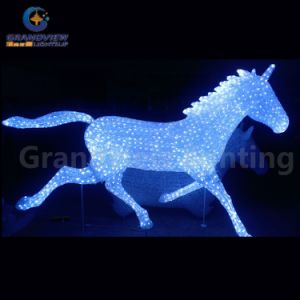 Hot Sale Xmas Light Zoo Animal 3D Christmas Lighting Horse for Holiday Decoration pictures & photos