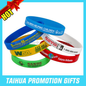 2017 Promotion Printed Silicone Bracelet Wristband (band-046) pictures & photos