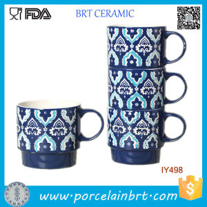 Nice-Looking Fancy Retro Pattern Stackable Ceramic Mug pictures & photos