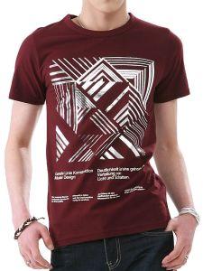 Custom_Design Metal Print Cotton Fashion Men′s T_Shirt