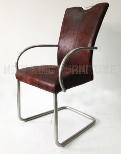 Modern Luxurious Fashion Stainless Steel Foot PU Leather Dining Chair (NK-DC062)