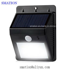 PIR Outside LED Lamp Metal Gate Infrared Sensor Solar Wall Light pictures & photos