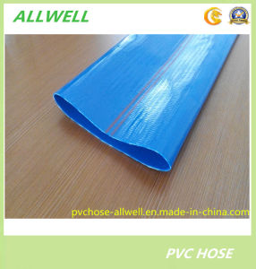 Plastic PVC Yellow Layflat Hose Fiber Braided Water Irrigation Pipe Hose pictures & photos