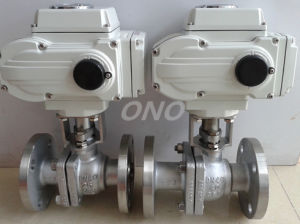 Electric Carbon Steel Ball Valve with Flange pictures & photos