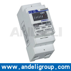 Single Phase DIN-Rail Watt-Hour Meter (ADM65S) pictures & photos