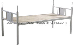 Metal Steel Iron Single Bed for School Military Hotel pictures & photos