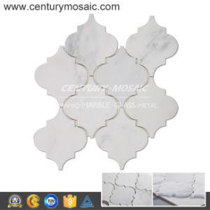 Arabesque Oriental White Marble Mosaic Tile