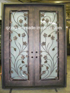 Decorative Square Top Wrought Iron Door (ZY-IR062)