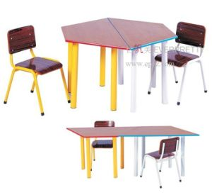 China New Style of Wooden Kid Study Table Designs Children