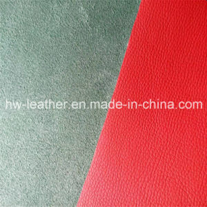 Automotive Real Microfiber PU Leather for Car Seat Hw-1563 pictures & photos
