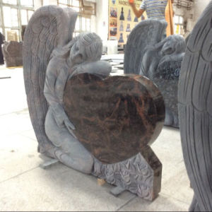 Aurora Granite Headstone Memorials with Engraving Angels pictures & photos