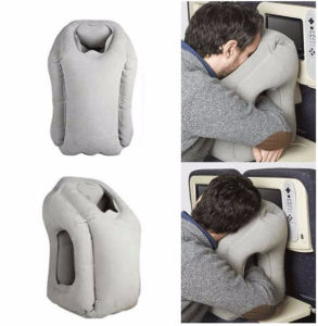 2017 New Design Concave Shape Tray Table Inflatable Travel Pillow for Airplane, Office Nap, Home Sleeping Use pictures & photos