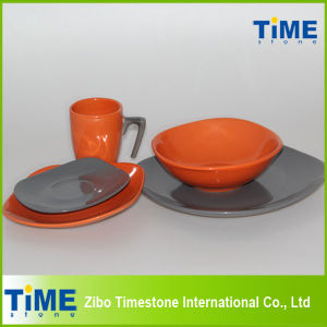 Square Shape Stoneware Colorful Dinner Set pictures & photos