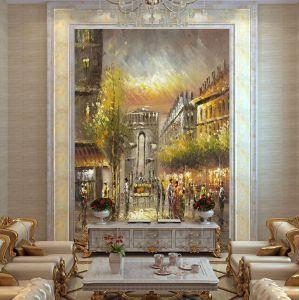 Hotel&Homde Decorative Wall Art Paris Street Art Canvas Oil Painting pictures & photos
