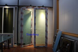 Waterproof Double Glazed Aluminum French Doors pictures & photos