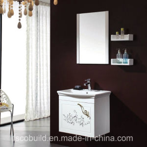 Wall Mounted White Color Bathroom Cabinet with Ceramic Top (K-1026)