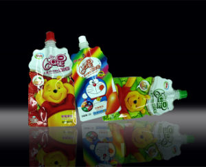 Plastic Stand-up Yogurt Packaging Bag, Stand-up Shaped Milk Spout Pouch pictures & photos