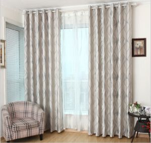 European Style Suede Double-Faced Jacquard Cation Curtain (MM-126) pictures & photos