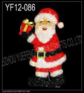 Red Tinsel Christmas Santa Clause (YF12-086)