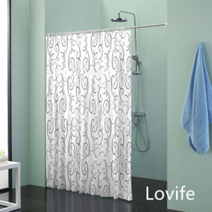 Shower Curtain Bathroom Waterproof Curtain (JG-236) pictures & photos