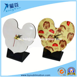 Sublimation Heart Shape MDF Clock for Wholesale pictures & photos