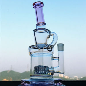 Hbking Bent Neck Honeycomb Glass Smoking Water Pipe Water Glass Pipe pictures & photos