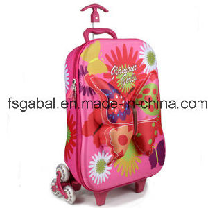 3D Butterfly Kids Travel Trolley Luggage Bag pictures & photos