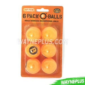 Bp PRO 6 Pack Seamless Pingpong Balls - Wayneplus pictures & photos