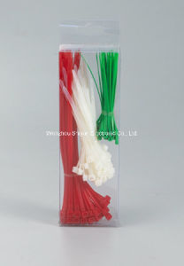 Nylon 66 Cable Ties, Straps White/Black, Color pictures & photos