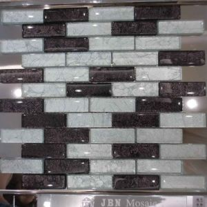 Interior Wall Black and White Golden Foil Glass Mosaic (G827003) pictures & photos