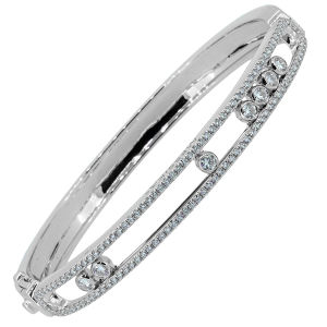 Full Diamond 18k White Gold Move Bracelets Micro Setting Jewelry pictures & photos