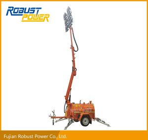 Four Folded Heavy-Duty Trailer Hydraulic LED Lighting Tower pictures & photos