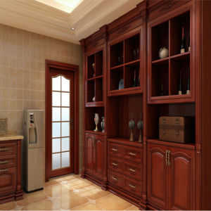 2015 New American Red Cherry Solid Wood Kitchen Cabinet pictures & photos