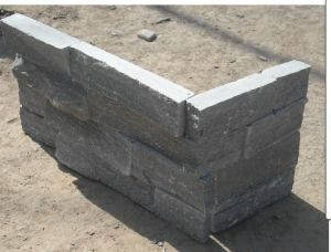 Dark Grey Corner Stone