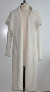 Lamb Cashmere Loose Long Cardigan Knitwear with Pocket pictures & photos