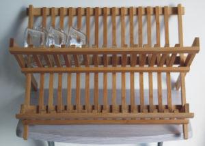 Bamboo Dish Drying Rack (JD-KC043)