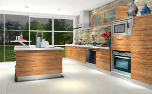 High Gloss UV Australia Style Kitchen Cabinets (ZX-025) pictures & photos