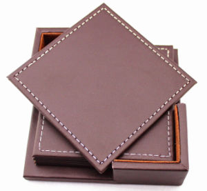 Leather Insulation Mats Set for Coffee House pictures & photos
