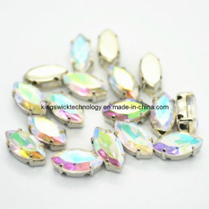 5X10mm Navette Sew on Crystal Glass Fancy Stones Foil (SOR05) pictures & photos
