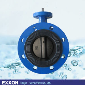 Cast Iron Flange Type Butterfly Valve with Bare Stem (D41X) pictures & photos