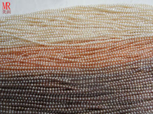 3-4mm AA Grade Round Freshwater Pearl Strands pictures & photos
