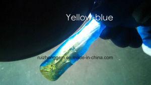 Doubel Color Corundum, Yellow -Blue Corundum Material pictures & photos