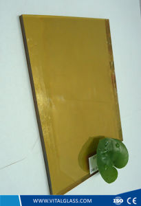 Tinted/Colored Golden Reflective Glass for Building Glass pictures & photos
