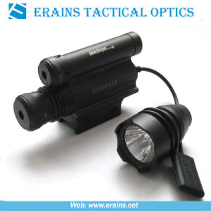 Green Laser Sight With Replaceable Flashlight Head and Upper Mounted Red Laser Scope Combo (ES-YH-114-2) pictures & photos